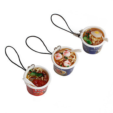 Mini Cup Noodles Shaped Keychain (Random Colors)