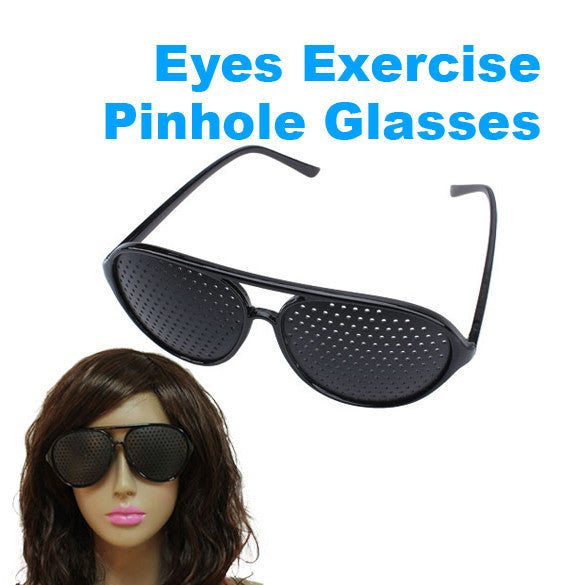 Vision Spectacles Eyesight Improve Pinhole Pin hole Eyes Training Exercise Glasses Eyewear