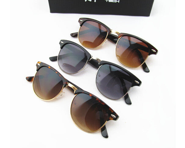 Men Women Retro Half-frame Sunglasses Wayfarer Frame Glasses Brand designer glasses