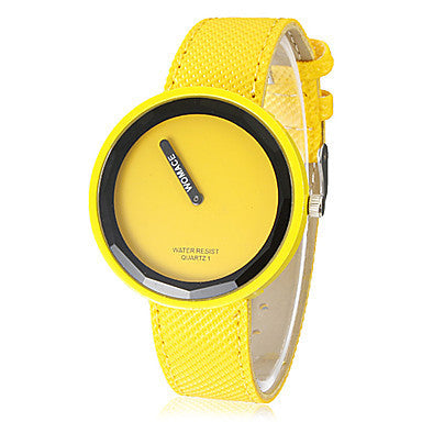 Fashion watch Women's Watch Minimalism Round Dial Candy Color