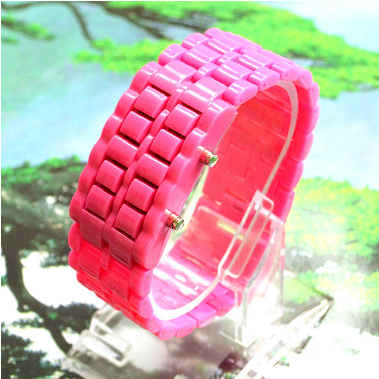 Fahsion LED Digital Lava Plastic Sport Men Women Unisex Wrist Day Date Watch