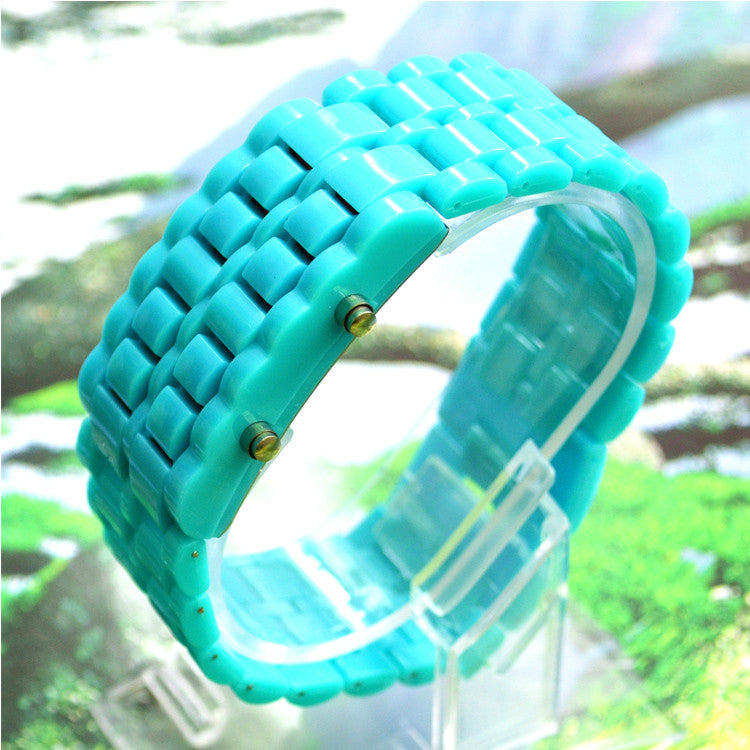 LED Digital Lava Plastic Sport Men Women Unisex Wrist Day Date Watch