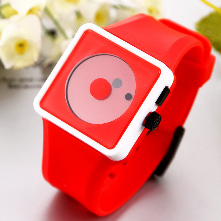 Fashion Men Smile Dot hours Quartz watches Unisex women Silicone Wristwatches Casual Watch Sports watch