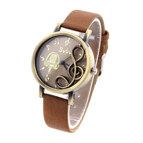 Fashion Vintage Watch for Women's Dress Watches retro zither PU Strap quartz watch analog wristwatches