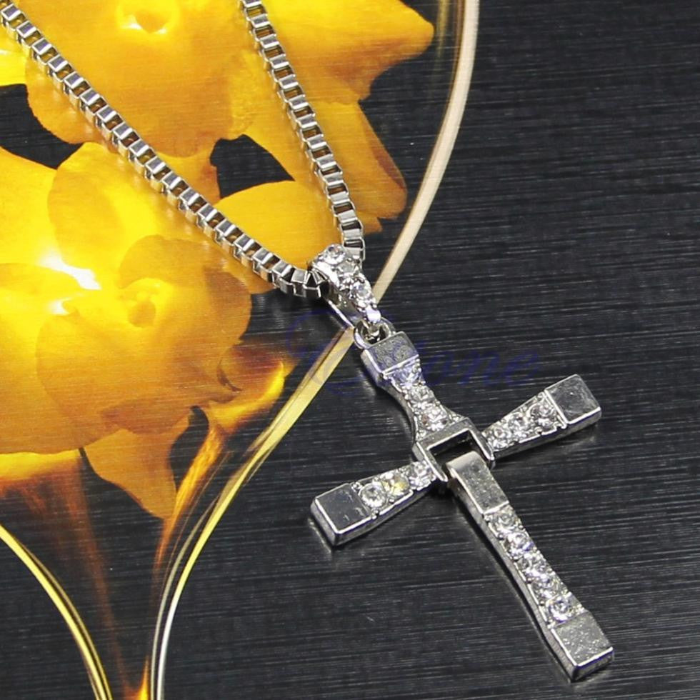 Male Necklaces & Pendants Fashion Movie jewelry Men Classic Colar CROSS Pendant Necklace