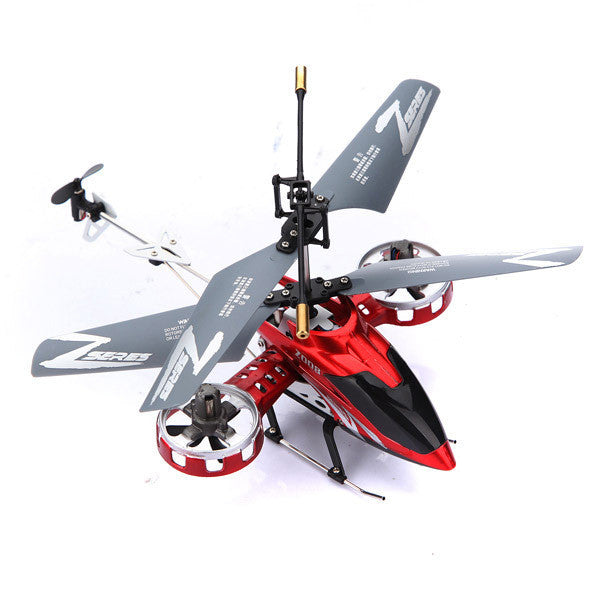 Hot Red Avatar Z008 4CH Metal RC Helicopter Micro Gyro Remote Controlled Aircraft Toy Gift RTF LED Light