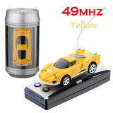 Mini Coke Can RC Radio Remote Control Micro Racing Car Hobby Vehicle Toy Birthday Gift