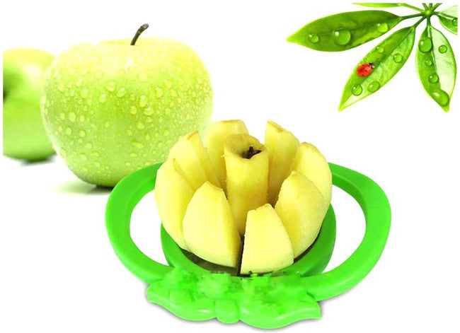 Apple Shaped Easy Fruit Slicer Cutter Tool (Random Colors)