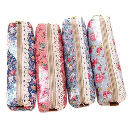 Fashion Women Pencil Bags Cute Floral Printed Pencil Bags For Girls