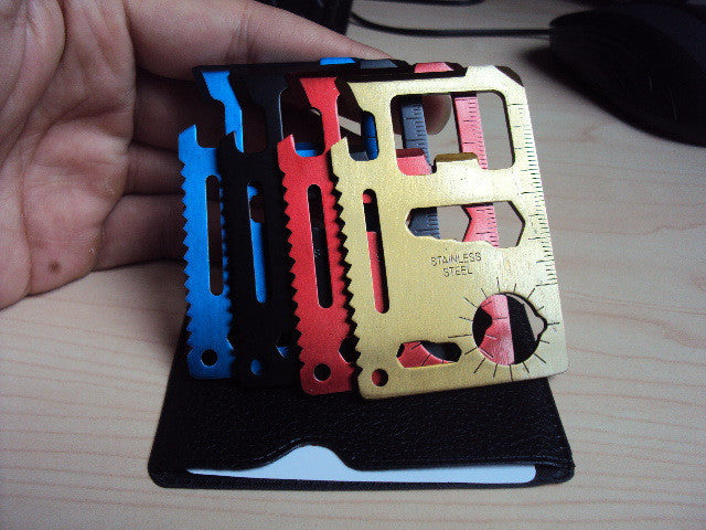 Emergency Survival Knife,Mini Multi Tool Card with leather cover credit card knife cardsharp knive-4pcs/set