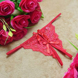 Ladies Lace Sexy Open Crotch Thongs G-string V-string T-Back Panties Knickers Underwear