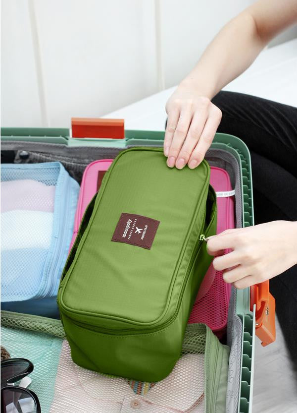 New Nylon Multifunction Makeup Travel Portable Underwear Bag Luggage Storage Bra Organizer