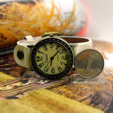 Women Dress Watches Women rhinestone Watches Vintage Leather Fashion Quartz Retro Sports Vintage WristWatches