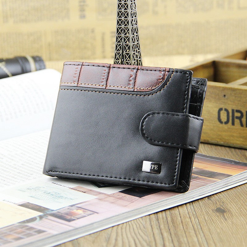 Casual Wallets For Men New Design Genuine Leather Top Purse Wallet With Coin Bag