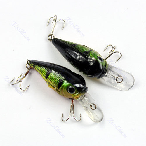 "M112""50mm 5g Sinking Fishing Lures Minnow Crank Bait Crankbait Tackle Treble Hook"