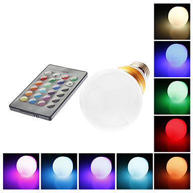 5W RGB Golden Shell Light Remote Controlled LED Ball Bulb (85-265V)