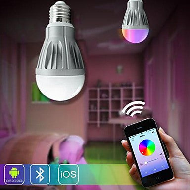 H+LUX™ Bluetooth Control LED Smart Bulb (R,G,B,W...) 7W AC 85-265V
