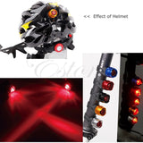 Bike Bicycle Cycling Front Rear Tail Helmet Flash Light Safety Warning Lamp