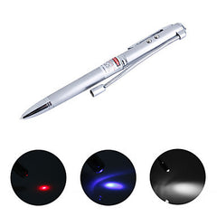4-in-1 Pen (LED Flashlight + UV + Laser) multifunctional pen