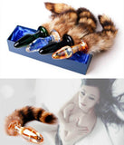 Love Faux Raccoon Fox Tail Butt Anal Plug Sexy Romance Sex Toys Funny Adult Products