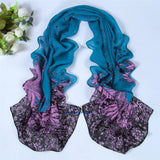 Women scarf fashion pashmina 2014 new design long shawl cape silk chiffon tippet muffler echarpes Scarves