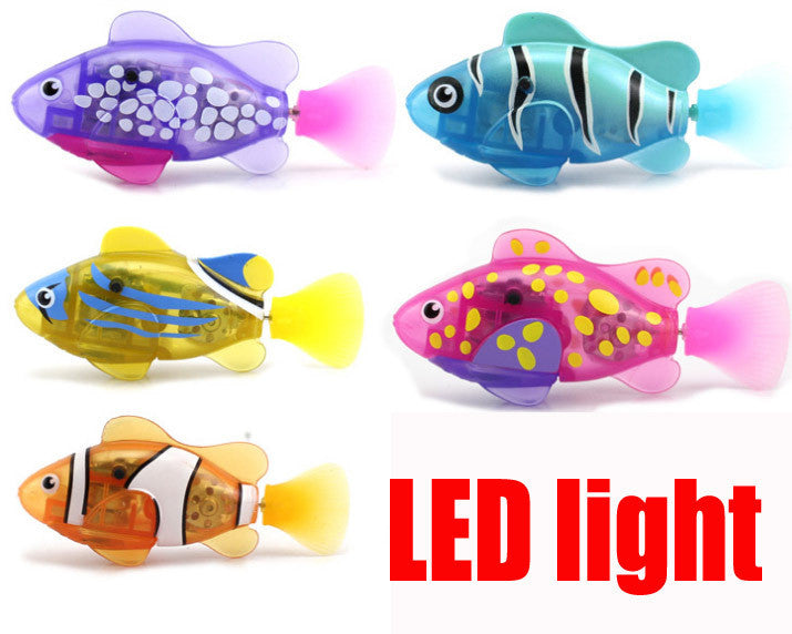 Novel Robotfish Electric Toy Robot Fish with led Emulational Toy Robot Fish-4pcs/set