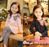 Autumn children clothing suits girls clothing set child cotton sportswear set girl casual suit