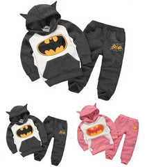 Baby boys girls Batman clothing suits hoodies+ pants sport suit with cap clothing set 2 pieces
