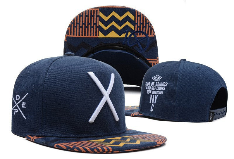 New hot deep blue fashion baseball caps hats and caps for men cool cotton adjustable sport hip pop cap X letter
