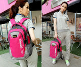 Korean color block lover men and women computer backpack bag Students school bag