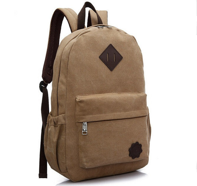 Men Large Capacity Backpack Casual Canvas Travel Rucksack Back Pack School Bag