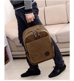 New Fashion canvas laptop backpack men travel bag men casual student school bag