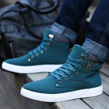 Hot Men Shoes Sapatos Tenis Masculino Male Fashion Spring Autumn Leather Shoe For Men Casual High Top Shoes Canvas Sneakers