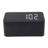 USB DC6V Relogio De Mesa Wood LED Digital Alarm Wooden Clock with Temperature Display Voice Sound Activated Wood Despertador