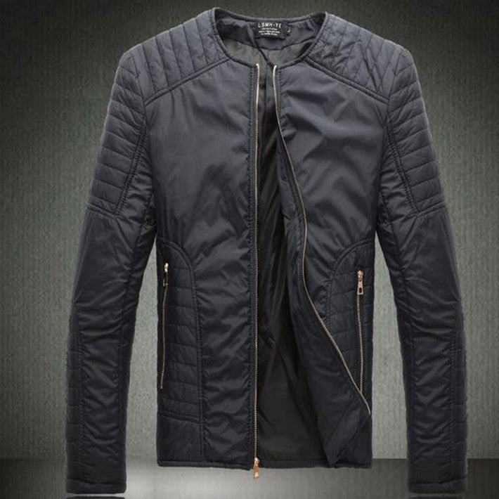 Hot Sale Men's Fashion Korean Style Jacket Male Korean Style Solid O-neck Thin Coat