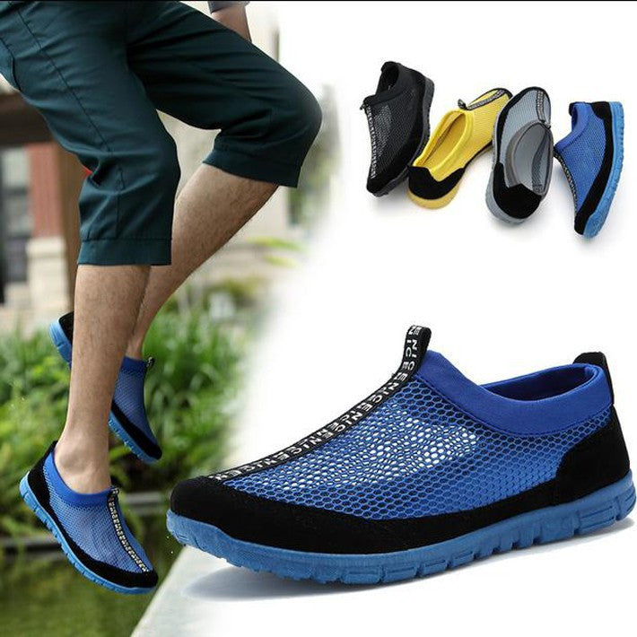 Men's Net Shoes Hot-selling Men's Hollow Out Fashion Shoes Male Casual Summer Wear Shoes