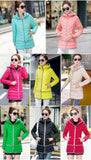 Olympic Winter Games / designated product / cotton stitching Girls Long Hooded Slim Down padded jacket Women winter jacket