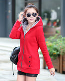Korean Style Autumn Winter Women Coat Warm Thick Fleece Jacket Outerwear Hoodies Sweatshirts