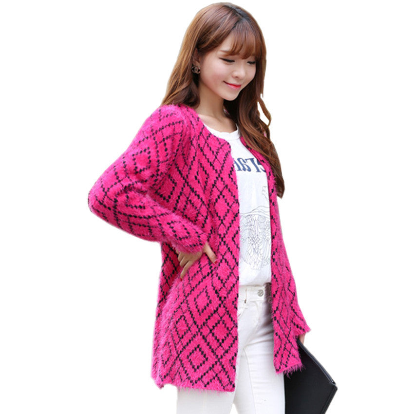 Spring & Autumn & Winter Female Knitted Sweater Dress Women knitwear Casual Long Knitting Warm Cardigan Outerwear Coats