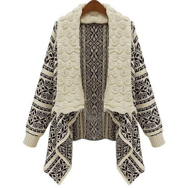 Women Autumn Ladies Knitted Cardigan Casual Outwear Sweater Jacket Coat