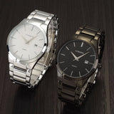 Luxury Brand Full Stainless Steel Analog Display Date Men's Quartz Watch Business Watch Men Watch