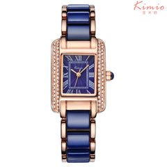KIMIO New Women Watch Fashion Analog Display Quartz Watch Women Luxury Brand Rhinestone Women Watches