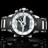 Hot Sale WEIDE Luxury Brand Men Sports Watch 3ATM Waterproof Multifunction Quartz Digital LED Backlight Military Watches