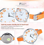 Skone Women Fashion Causal Watch Lady's Leather Analog Quartz Watch Water Resitant Watches Gift For Lover Wrist Watches