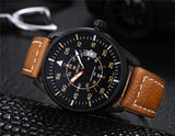 NAVIFORCE New Genuine Leather Watch Men Luxury Brand Quartz Watch Analog Display Date Casual Watch Men Watches