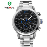 WEIDE Military Watches Men Quartz Sports Watch Luxury Brand Calendar Wristwatches 30m Waterproof Male Clock