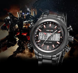 Luxury Casual Sports Watch WEIDE Brand Digital Quartz Waterproof Clock Men Watches Fashion Men's Wristwatch