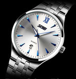 Men full steel watch quartz men casual fashion watch wristwatch with calendar Men business hours wrist watch