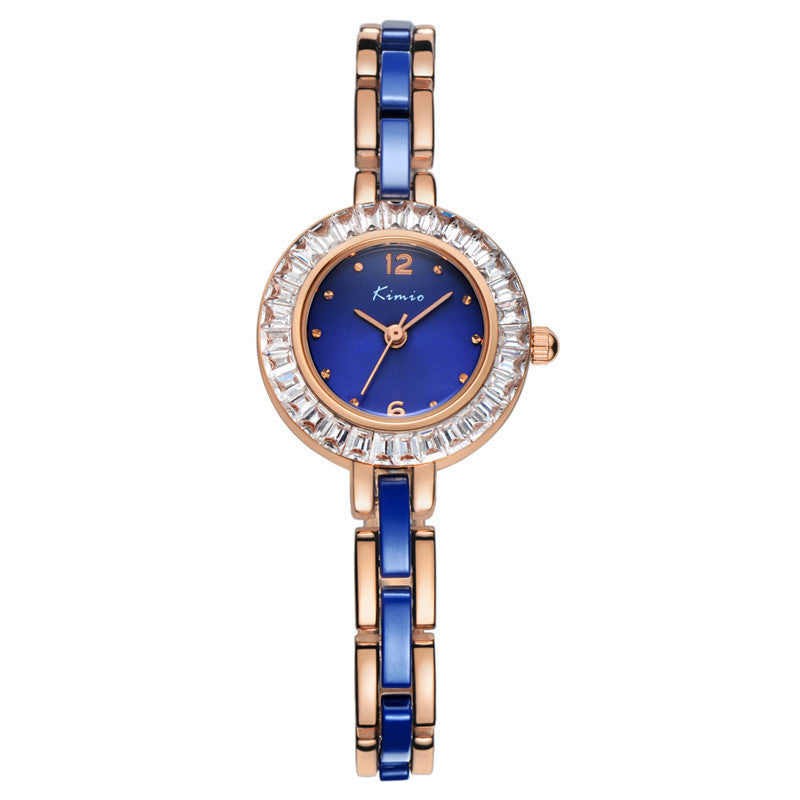 KIMIO New Women Watch Fashion Analog Display Quartz Watch Women Luxury Brand Rhinestone Dress Watches