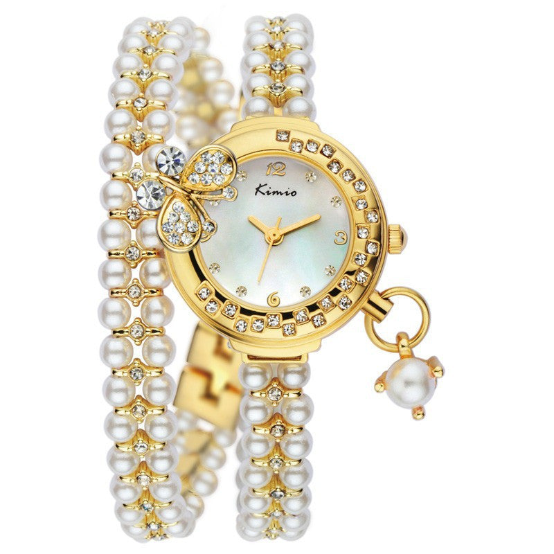 KIMIO New Luxury Women Watch Fashion Style Full Rhinestone Analog Display Quartz Watch Women's Wristwatch